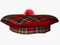 3d scotish tartan hat