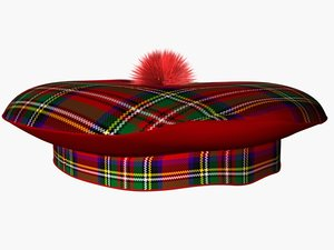 3d scotish tartan hat
