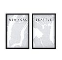 Picture Frames - City maps