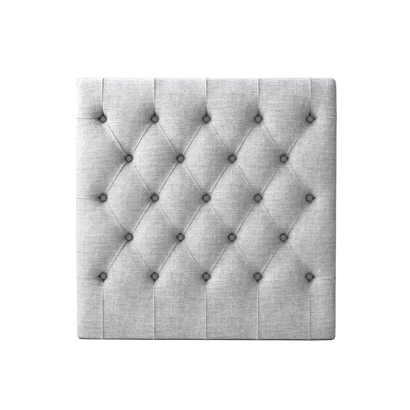 upholstered buttoned headboard 3d obj