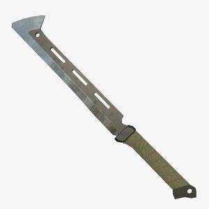 3d model of machete