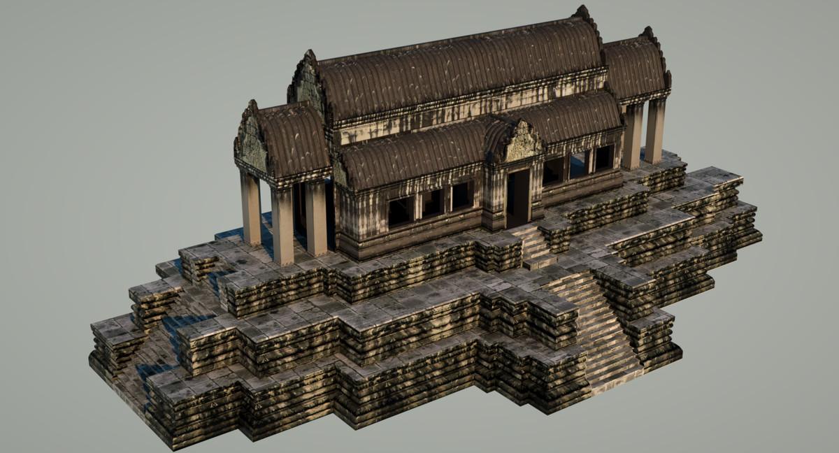3d library angkor wat model