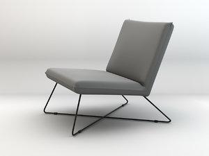 3d regal club chair model