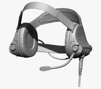 earphones modeled 3d obj