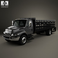 international durastar flatbed 3d max
