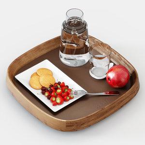 3d porada mix tray model