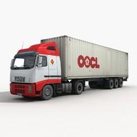 intermodal container truck 3d model
