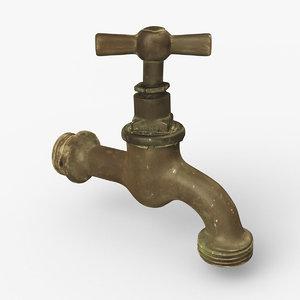 faucet old 3d model