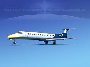 3d model embraer erj 145 jets