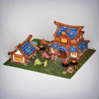 fantasy house materials 3d c4d