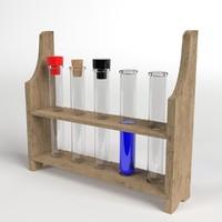 3d model test tubes rack