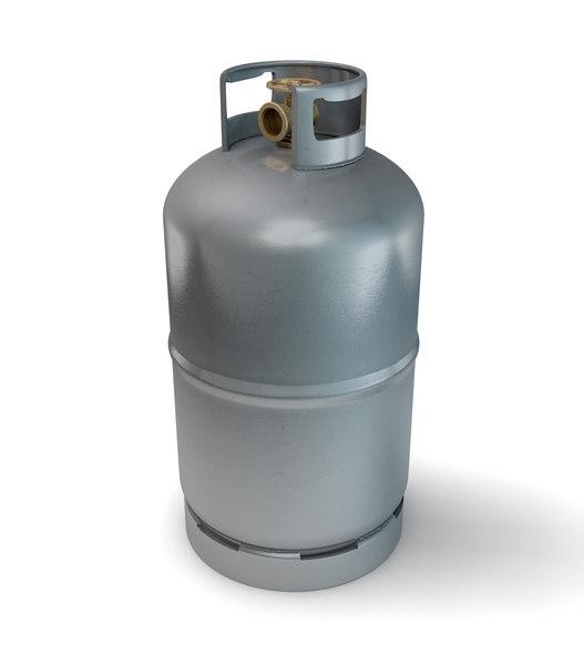 metal gas cylinder 3d model