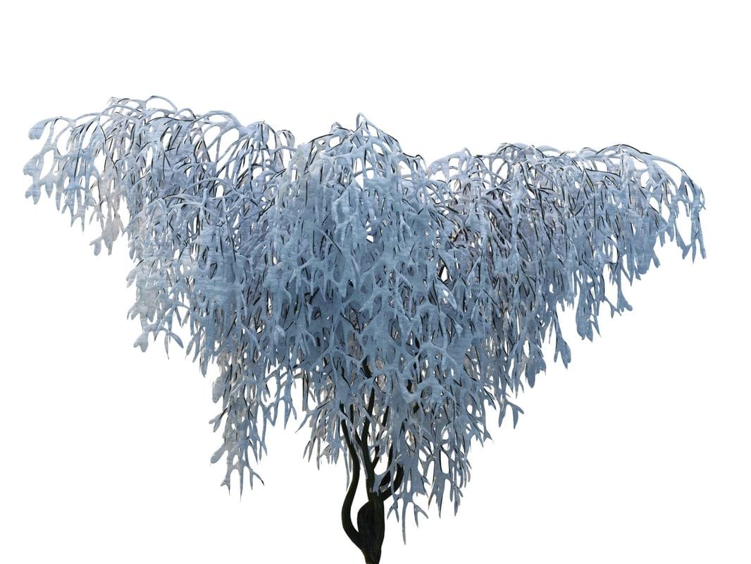 3d frozen tree hd model