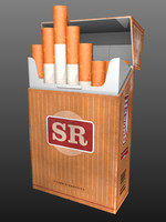 cigarettes pack 3d model