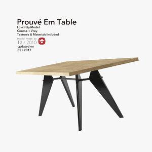 table em prouv 3d model