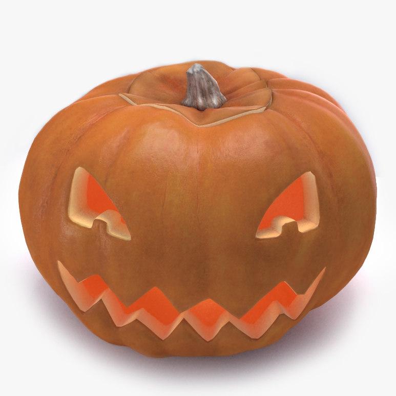realistic pumpkin halloween 3d model