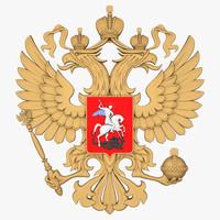 3d russian coat arms