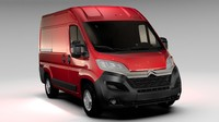 3d citroen jumper van l1h2 model