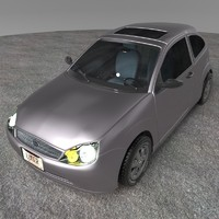 3d model of realistic car