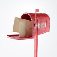 3d old letter box model
