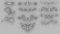 Ornate Swirls 01 - Set of 11