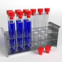 test tubes rack 2 3d model
