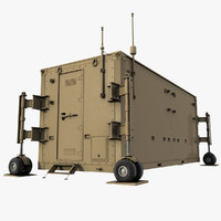 uav drone control container 3d 3ds