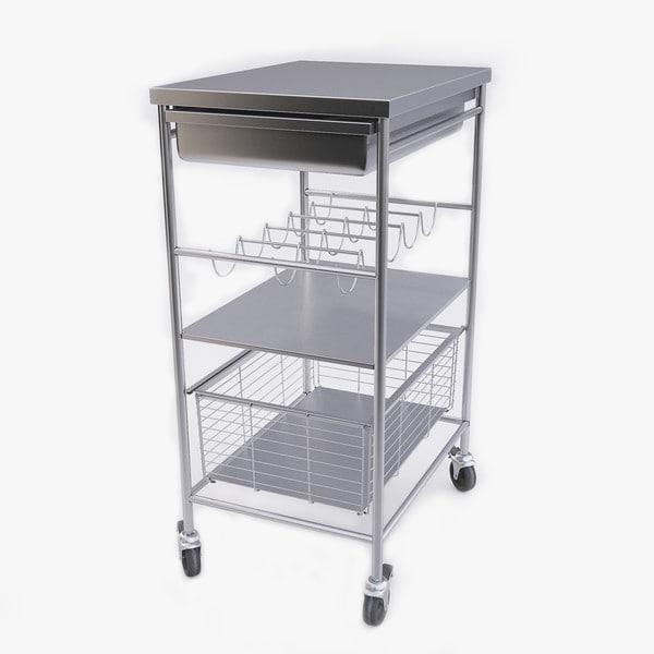 kitchen cart 3d model