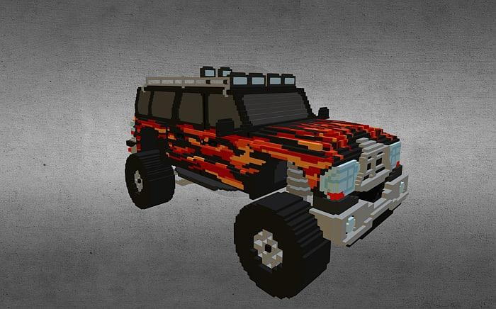 3d model voxel monster truck