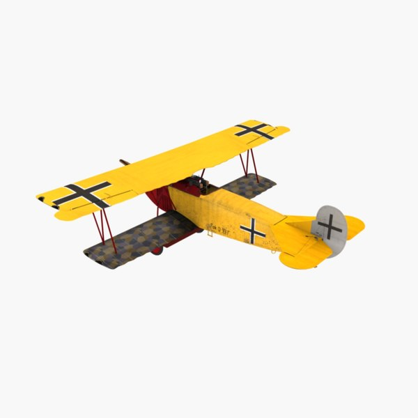 3d von richthofen fighter fokker model