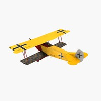 3d von richthofen fighter fokker model