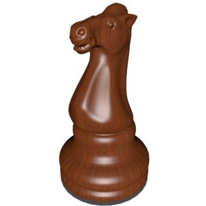 knight chess piece 3d model