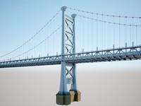 3d model ben franklin bridge