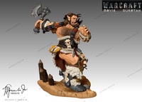 3d warcraft movie durotan action model