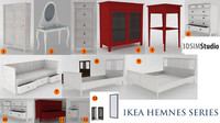 ikea hemnes 13 pieces 3d model