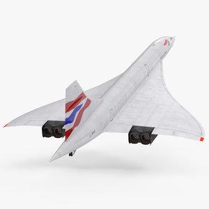 concorde supersonic passenger jet 3ds