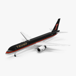 3d model donald trumps private boeing 757