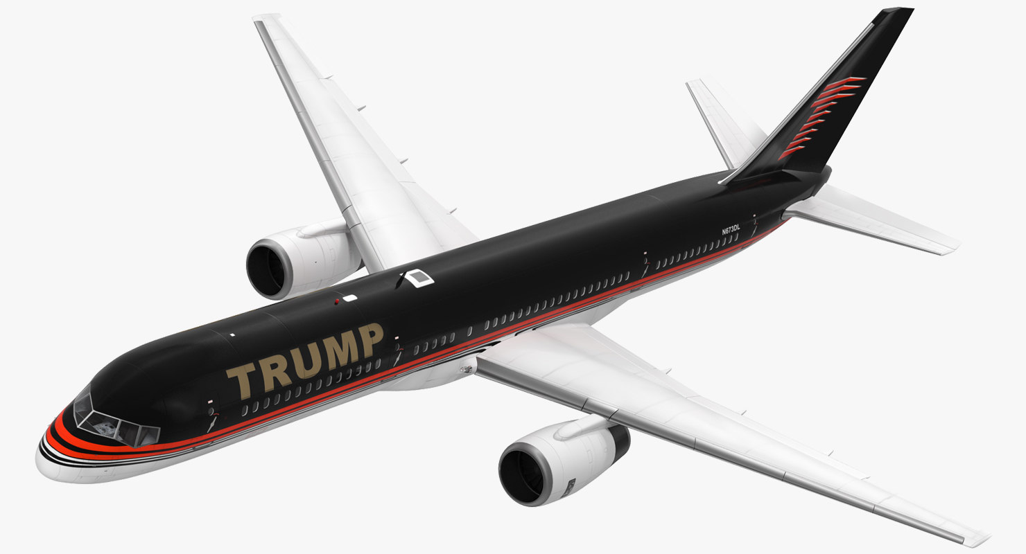 3d donald trumps private boeing 757