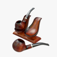 Tobacco Pipe and Holder