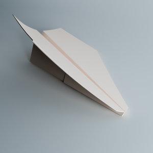 paper plane 3d max