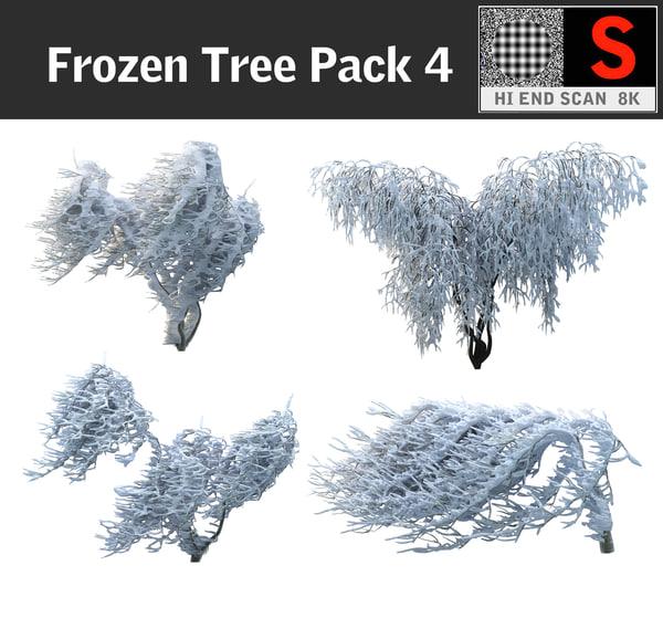 3d frozen tree pack 4