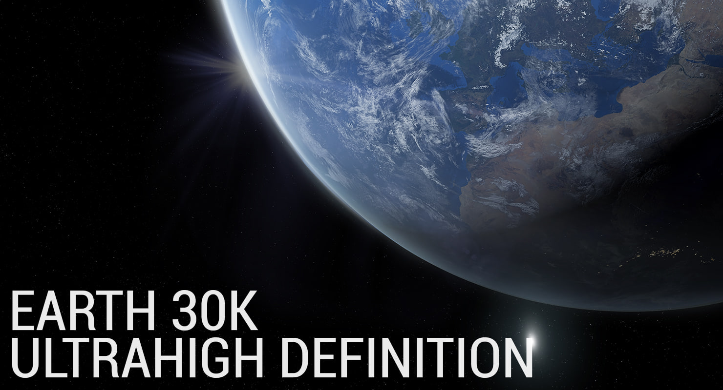 3d photorealistic planet earth -