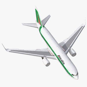 boeing 767-200er alitalia rigged 3d model