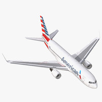 boeing 767-200er american airlines 3d max