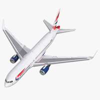 3d boeing 767-200er british airways