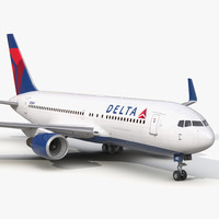 boeing 767-200er delta air lines 3d 3ds