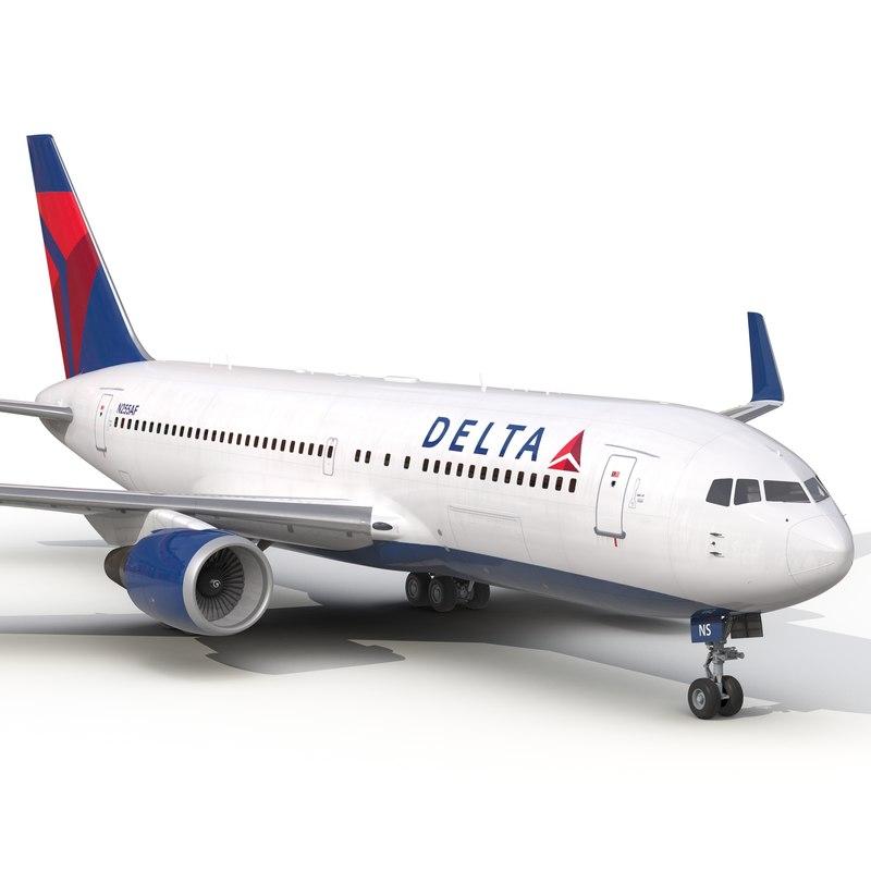 boeing 767-200er delta air lines 3d 3ds