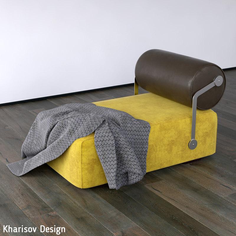 3d kharisov design couch model