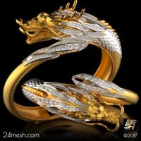 bracelet dragon - 3d model