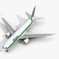 3d boeing 767-200er alitalia model